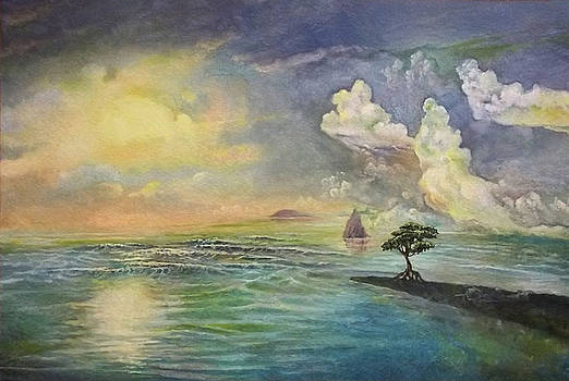 The island by Alexander Dudchin