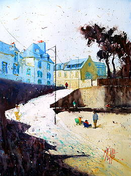 The jetty Larmor Plage by Andre MEHU