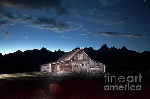 The John Moulton Barn on Mormon Row at the base of the Grand Tetons Wyoming by Greg Kopriva