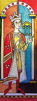 The King. Medieval motif. 2009 by Yuri Yudaev