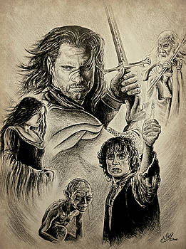 The Kings Battle sepia by Andrew Read
