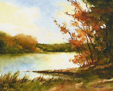 The Lake In Autumn by William Beaupre