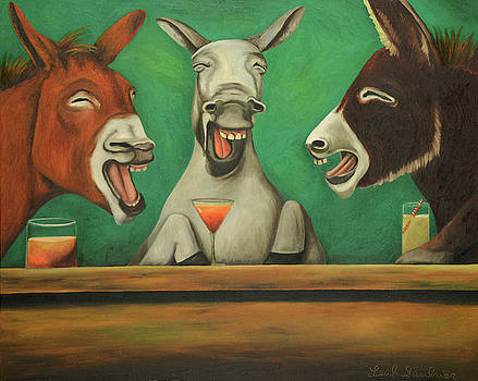 Leah Saulnier The Painting Maniac - The Laughing Donkeys