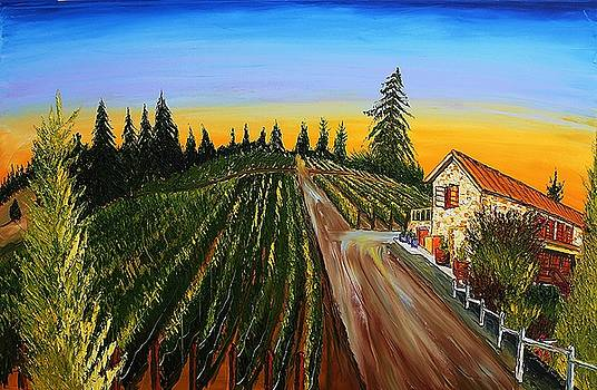 The Lenne Wine Vineyard by Portland Art Creations