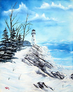 The Lighthouse--prints only--original oil sold by Edward C Van Wicklen Sr