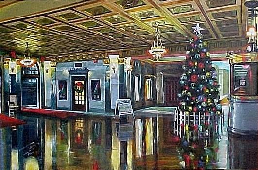The Lobby at Christmastime by Bobbi Baltzer-Jacobo