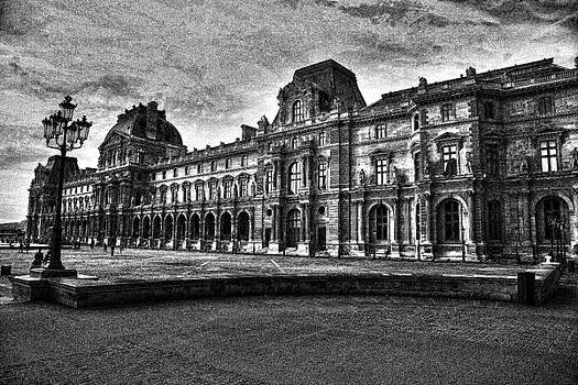 Chuck Kuhn - The Louvre Charcoal