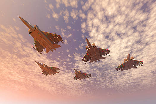 The missing man formation. by Carol and Mike Werner