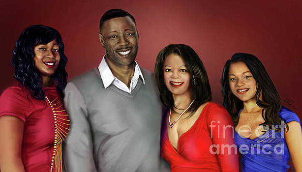 The Montgomery Family Portrait by Reggie Duffie