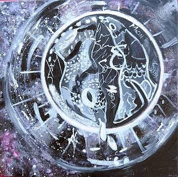 The moon by Otilia Gruneantu Scriuba