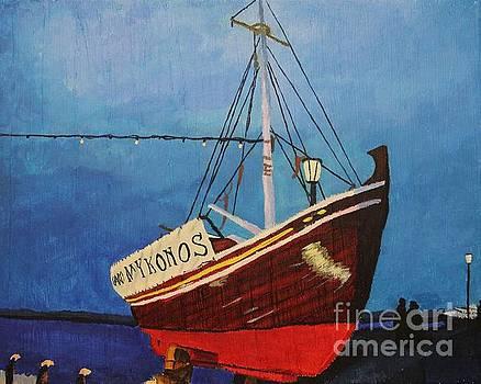 The Mykonos Boat by Marina McLain