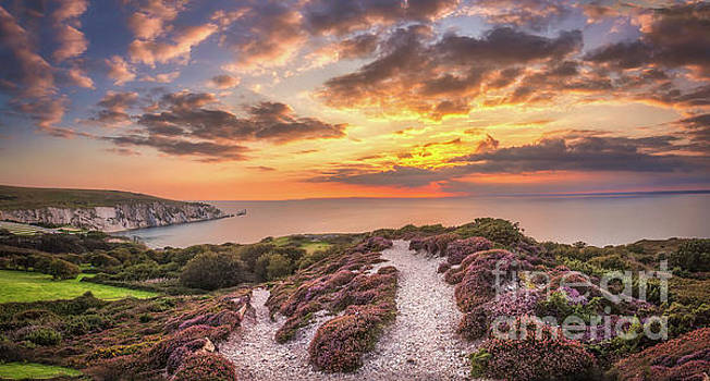 The Needles Sunset Panorama by English Landscapes