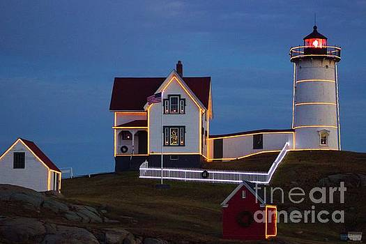 The Nubble at Christmas by Alice Mainville