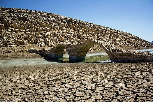 The old bridge on Lake Qaraoun by Amal Charif