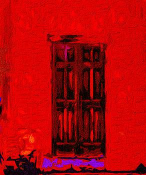 The Old Door on Shelby Street Santa Fe by Terry Fiala
