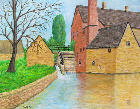 The Old Mill- Lower Slaughter Cotswolds by Ronald Haber