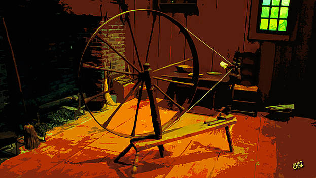 The Old Spinning Wheel by CHAZ Daugherty