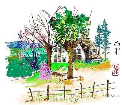 The Ole House In Spring by Debbi Chan