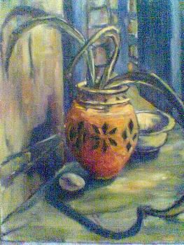 The Orange Pot by Fareeha Usman