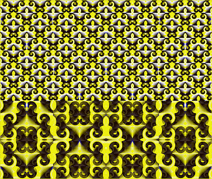 The Pack of Cards - Yellow Abstract by Gillian Owen