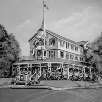 The Parker House Black and White by Melinda Saminski