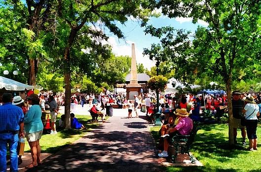 The Plaza Santa Fe New Mexico by Joseph Frank Baraba