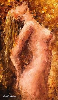 The Pleasure Of Lust - PALETTE KNIFE Oil Painting On Canvas By Leonid Afremov by Leonid Afremov