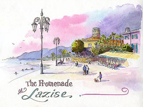 The Promenade at Lazise by Leslie Fehling