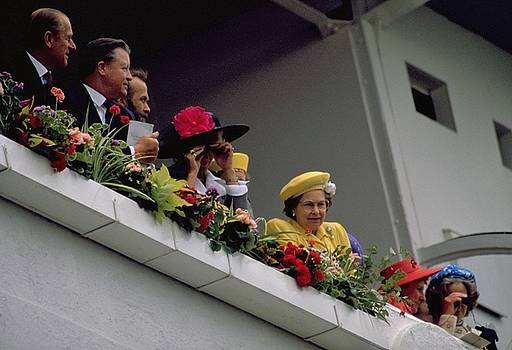 The Queen at Derby Day 1988 by Travel Pics