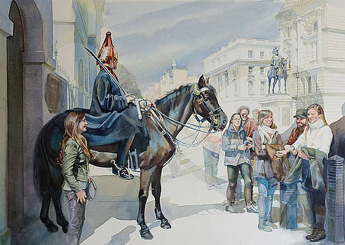 The Queens Horse Guards by Gilly Marklew