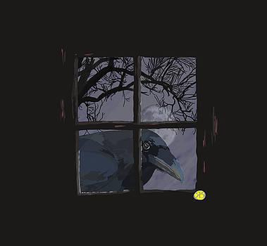 The raven in the window by Robert Breton