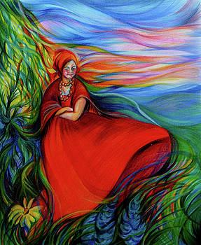 Anna  Duyunova - The Red Sarafan of The Summer