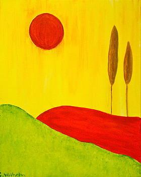 The Red Sun by Esther Wilhelm Pridgen