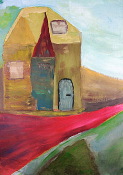The road of red brick by Aleksandr Volkov