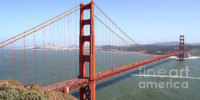 Wingsdomain Art and Photography - The San Francisco Golden Gate Bridge 7D14507 panoramic