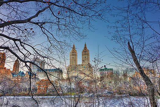 The San Remo Building from the Lake at Central Park by Randy Aveille