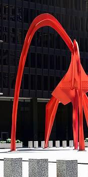 The Scoop - Calder's Flamingo - Chicago by Chrystyne Novack