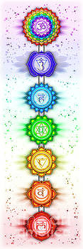 The Seven Chakras - Series 5 Artwork 2 by Dirk Czarnota