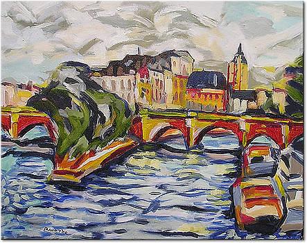 The Siene at Pont Nuef by Nancy Rourke