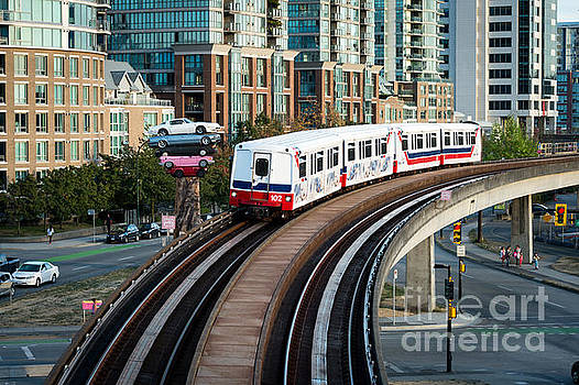 The Skytrain in Vancouver by Wayne Wilton