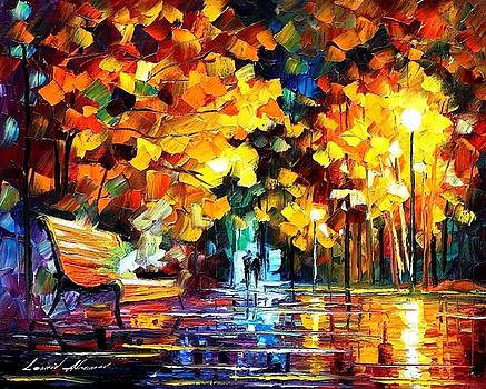 The Soul Of The Night 2 - PALETTE KNIFE Oil Painting On Canvas By Leonid Afremov by Leonid Afremov