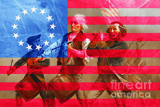 Wingsdomain Art and Photography - The Spirit of 76 And The American Flag 20150704