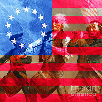 Wingsdomain Art and Photography - The Spirit of 76 And The American Flag 20150704square