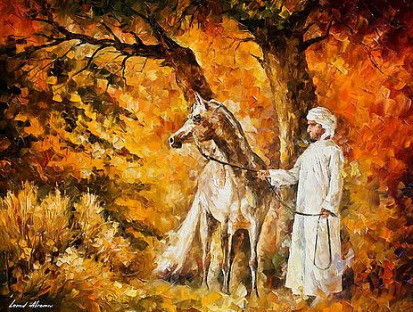 The Spirit Of The Desert - PALETTE KNIFE Oil Painting On Canvas By Leonid Afremov by Leonid Afremov