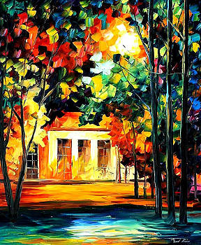 The Spirit Of The Night - PALETTE KNIFE Oil Painting On Canvas By Leonid Afremov by Leonid Afremov