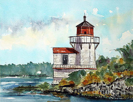 The Squirrel Point Lighthouse by Tim Ross
