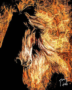The Stallion at Tijeras by Terry Fiala