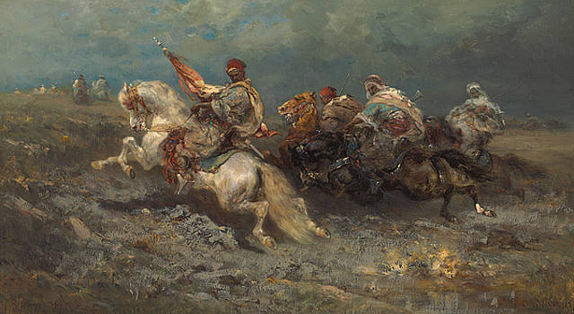 Adolf Schreyer - The Stampede