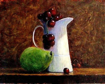The story of a white jug.. by Cristina Mihailescu