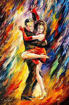 The Sublime Tango - PALETTE KNIFE Oil Painting On Canvas By Leonid Afremov by Leonid Afremov